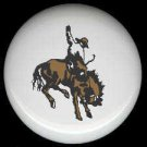 HORSE and COWBOY RODEO Rider ~ Ceramic Knob Knobs - Free Shipping
