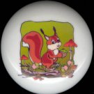 A NUTTY SQUIRREL ~ Ceramic Knob Knobs Pulls