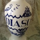 VINTAGE ♥ LILY ♥ BLUE BIRD LARGE APOTHECARY PHARMACY HERBAL JAR VASE