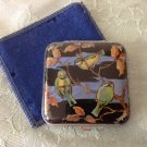 VINTAGE ❀ ✿ GWENDA ❀ ✿ BUTTERFLY WING POWDER PUFF COMPACT CASE W/ birds
