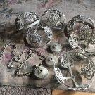 Rare Antique ORNATE cast Metal LIGHT LAMP SCONCE  SHADE FRAME CoverS