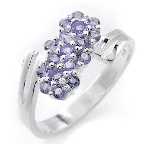 Tanzanite Sterling Silver Ring Sz 8