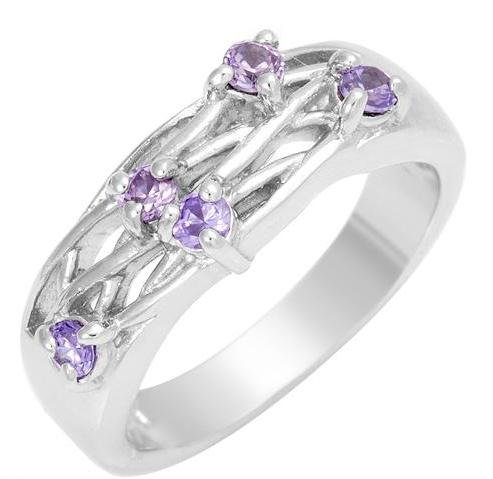 Gorgeous Tanzanite Cz Band Ring