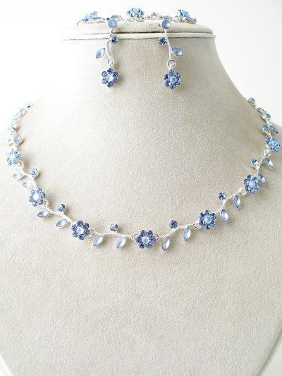 Floral Design Necklace, Bracelet & Earring Set