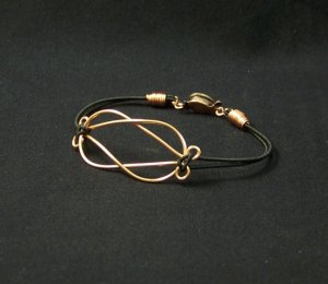 Interlocked Copper Bracelet