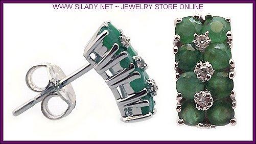 Emerald Stud Earrings FREE SHIPPING!
