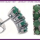 Emerald Stud Earrings FREE SHIPPING!