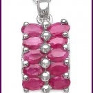 Ruby Pendant Necklace Free Shipping