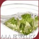 Green Peridot Ring Free Shipping