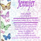 First Name Meaning - Butterfly Border