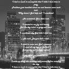 Time to Pray - City Lights b&w