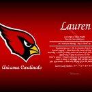 Arizona Cardinals - Personalized Name Scroll