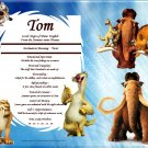 Ice Age Friends Personalized First Name Meaning Print