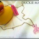 BRAND NEW Betsey Johnson Cute Teddy Bear Rhinestone Chain Necklace