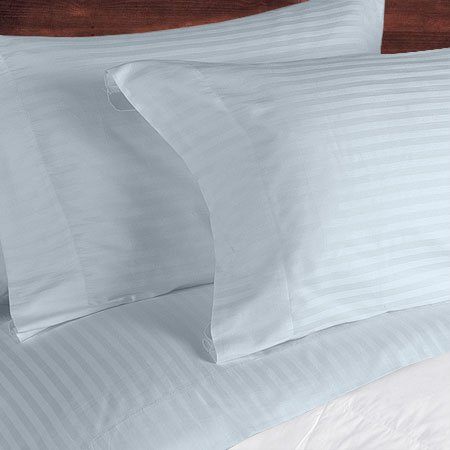 NILE VALLEY 100%EGYPTIAN COTTON 800 TC BED SHEETS-QUEEN STRIPED