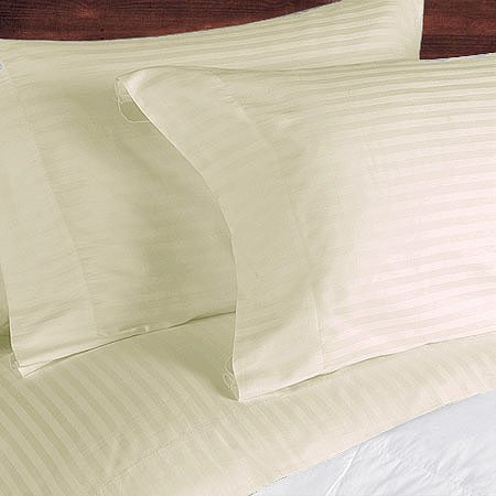 NILE VALLEY 100%EGYPTIAN COTTON 800 TC BED SHEETS-TWIN STRIPED