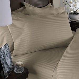 NILE VALLEY 100%EGYPTIAN COTTON 1000TC BED SHEETS-QUEEN STRIPED