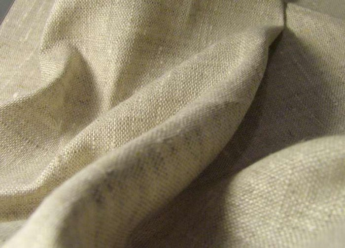 100% FRENCH LINEN BED SHEETS -TWIN- NATURAL