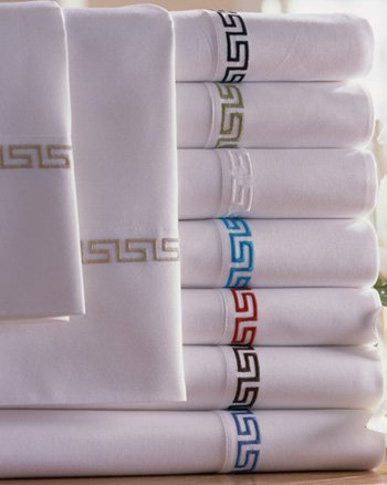 Nile Valley 1000tc 100% Egyptian Cotton with Greek Key Embroidery -QUEEN