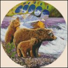 BEARS AT THE STREAM cross stitch pattern