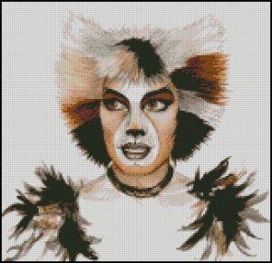 Musical CATS cross stitch pattern