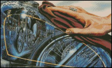 BIKER THEME 1 cross stitch pattern