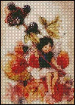 BLACKBERRY FAIRY cross stitch pattern