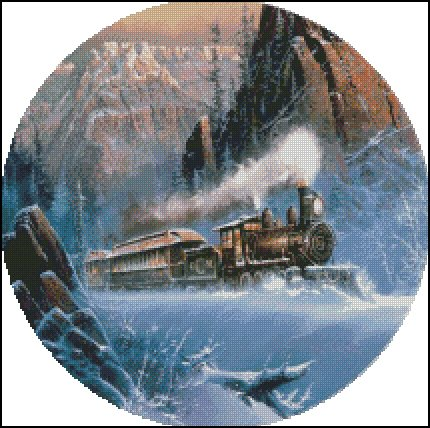 TRAIN 1 cross stitch pattern