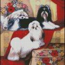 Dogs LADIES cross stitch pattern