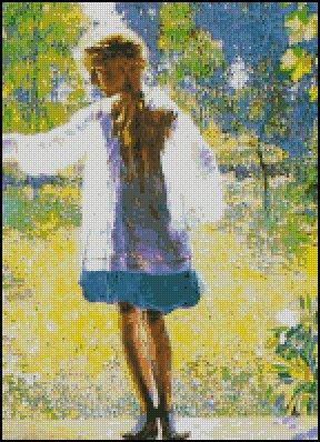 GIRL cross stitch pattern