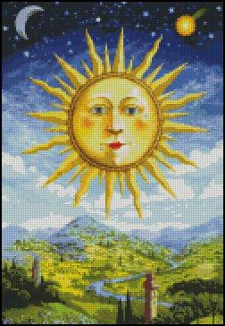 RENAISSANCE SUN cross stitch pattern