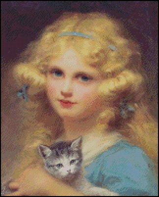 PORTRAIT OF A YOUNG GIRL cross stitch pattern