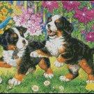 CUTE PUPPIES cross stitch pattern