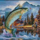 FISHING cross stitch pattern