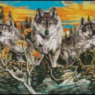 WOLF CROSSING cross stitch pattern