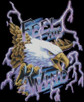 Eagle FEEL THE WIND cross stitch pattern
