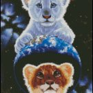 BIG CATS cross stitch pattern