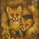 FOX CUBS cross stitch pattern