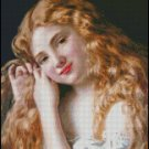 Sophie Anderson YOUNG GIRL FIXING HER HAIR pattern
