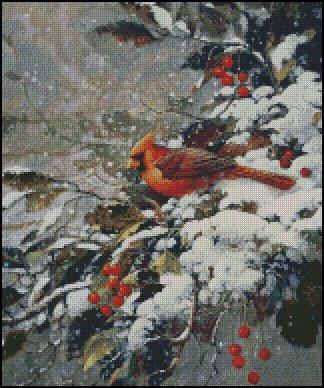 EARLY SNOW cross stitch pattern