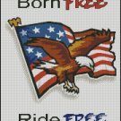 BORN FREE - RIDE FREE cross stitch pattern