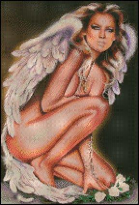 PIN UP ANGEL cross stitch pattern