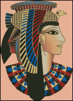 CLEOPATRA cross stitch pattern