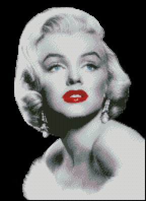 MARILYN MONROE  #6 cross stitch pattern