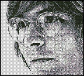 JOHN DENVER ink sketch cross stitch pattern