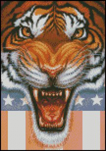 TIGER HEAD cross stitch pattern