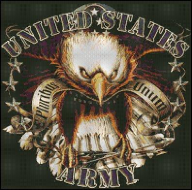 UNITED STATES ARMY cross stitch pattern