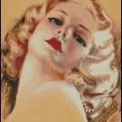 PIN UP PORTRAIT cross stitch pattern