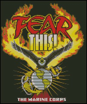 FEAR THIS! THE MARINE CORPS cross stitch pattern