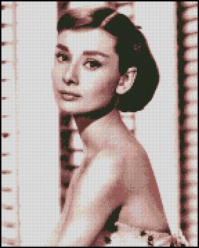 AUDREY HEPBURN 4 cross stitch pattern